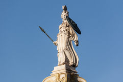 Athena statue. Classic statue of athena, athens, greece Royalty Free Stock Photo