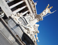 Athena statue in front of the Austrian parliament Stock Photography