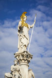 Athena Statue in front of the Parliament in Vienna Austria Stock Photography
