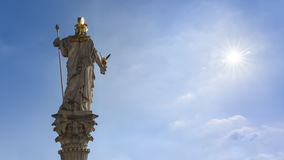 Athena Statue in front of the Parliament in Vienna Austria Royalty Free Stock Photos
