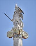 Athena statue, the goddess of wisdom and philosophy. Athens Greece royalty free stock photography