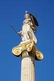 Athena statue at main entrance of the Academy of Athens, Greece. Stock Image