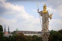 Athena Statue, Vienna Stock Image