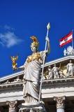 Athena statue Vienna Stock Images