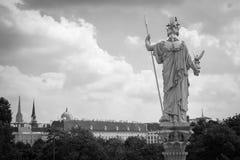 Athena Statue, Wenen Stock Foto's