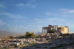 athena tempel Arkivfoto