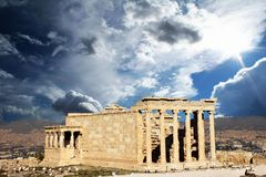 athena tempel Arkivbild