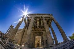 athena tempel royaltyfria bilder