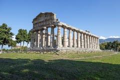 Athena tempel, Paestum Royaltyfria Foton