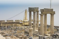 Athena temple Royalty Free Stock Photo
