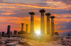 Athena Temple in Assos Stock Photos