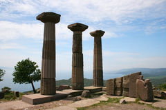 Athena Temple,Assos,Turkey Royalty Free Stock Photos