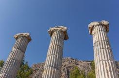 Athena temple columns Stock Photo