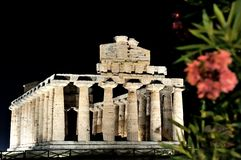 Athena Temple, Paestum Royalty Free Stock Images