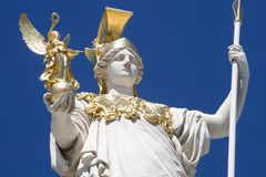 Athena from vienna Stock Photography