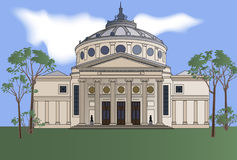 athenaeum bucharest royaltyfri illustrationer
