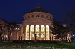 Athenaeum in Bucharest royalty free stock images