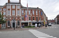 Portsmouth, 30th June: Athenaeum Building from Downtown Portsmouth in New Hampshire of USA Stock Images