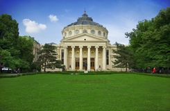 Athenaeum em Bucareste fotografia de stock