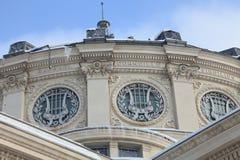 Athenaeum-groupe roumain pendant l'hiver Images stock