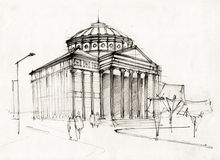 Athenaeum Sketch Stock Images