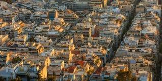 Athene, cityscape van Griekenland van Lycabettus-heuvel Royalty-vrije Stock Afbeeldingen