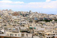 Athene is een hoofdstad van Griekenland stock foto