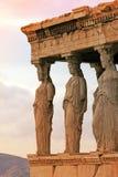 Athene, Griekenland - Kariatiden van erechteum Royalty-vrije Stock Foto