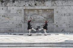 Evzones (presidentiële plechtige wachten) van Griekenland Stock Foto