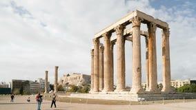 Athene, Griekenland - November 15, 2017: Pijlers van de tempel van Olympian Zeus in Olympeion van Athene Griekenland stock footage