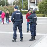 Athene, Griekenland - Oktober 24, 2017: Griekse politiecontrole stre Stock Fotografie