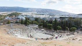 Athene, Griekenland - Oktober 24, 2017: Panorama van het zuiden royalty-vrije stock fotografie