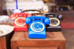 Athene, Griekenland Uitstekende telefoons in Monastiraki, een openluchtvlooienmarkt Stock Afbeelding