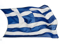 Athene - Griekenland - Vlag Royalty-vrije Stock Afbeelding