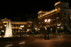 Athene nachts Stockfotos