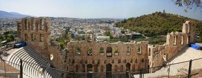 Athene - panorama Royalty-vrije Stock Foto's