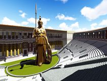 Athene statue Stock Image