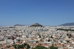 Athenes mountain Royalty Free Stock Photo