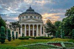 Atheneum Бухареста в свете утра стоковые изображения rf