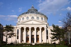 atheneum bucharest Royaltyfria Bilder