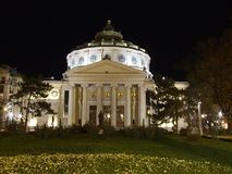Atheneum in the night. Romanian atheneum in the night Stock Images