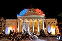 Atheneum romeno Foto de Stock
