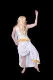 Athenian goddess over black Stock Photo