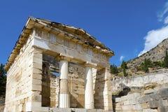Athenian treasury, Delphi, Greece Stock Images