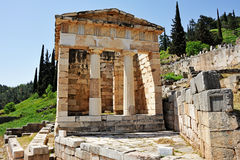 Athenian Treasury at Delphi Stock Photo