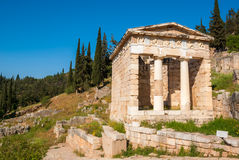 The Athenian Treasury in Delphi Royalty Free Stock Photography