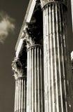 atheniankolonner royaltyfri bild