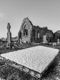 Athenry dominican abbey, Ireland. Winter in Athenry dominican abbey with tombstone, Ireland Stock Images