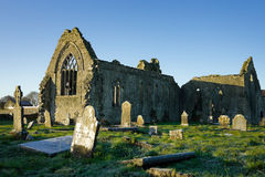 Athenry Dominican Friary with cemetery Royalty Free Stock Photos