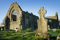 Athenry Dominican Friary with cemetery Stock Images